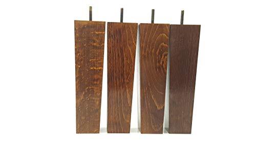 Knightsbrandnu2u PKC147D Möbelfüße aus Holz, 200 mm hoch, für Sofas, Stühle, Sitze, Hocker, M10 (10 mm), 4 Stück -