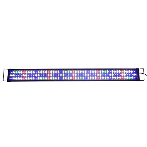 Aquarien ECO A175 Aquarium Lampe Rampe 120CM Blanc Bleu Rouge Vert Spectre Complet Lumière LED SMD 2 Modes 120cm-150cm Extensible avec Plug EU fiche européen Eclairage pour Poissons Plantes