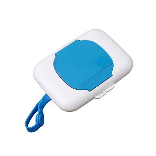 HENGSONG Tragbare Baby Kinder Outdoor Reise Feuchttuch Box für Kinderwagen Babybett (Blau)