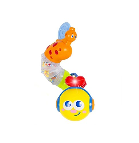 Early Education 6 Month + Olds Baby musical Twisting Worm Rattle Toy for Children & Kids Boys and Girls 1