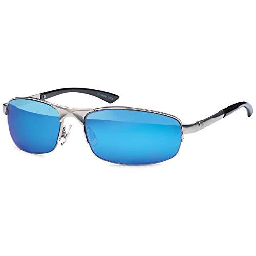BEZLIT Herren Sonnenbrille Sport Rad Brille Biker Rund Oval 80er Nerd Brillen 479 Blau
