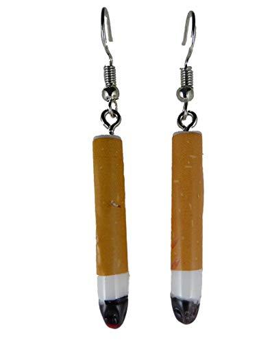 Ohrringe Ohrhänger Hänger Zigarette glühen Zigarre rauchen Rauch Raucher 12.309