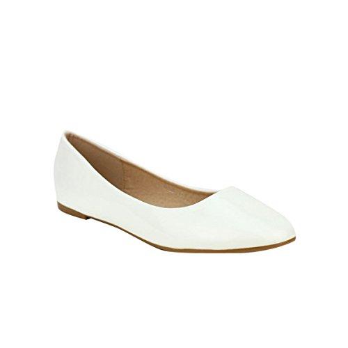 Cendriyon, Ballerine vernie Blanche GIRLS Chaussures Femme Blanc
