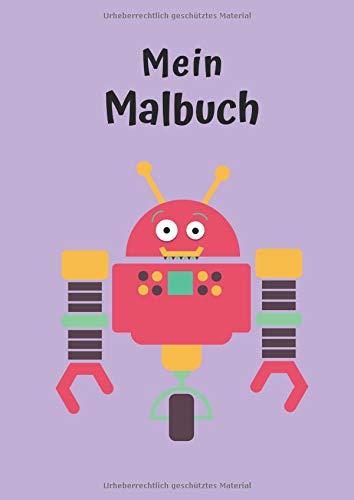 Mein Malbuch: Motiv Roboter No. 4 | DIN A4 | Blanko | Geschenkidee