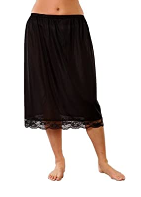 Womens Underskirt 100% Polyester With Lace Various Sizes