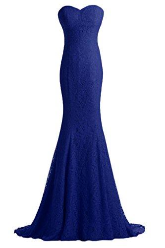 ivyd ressing robe dentelle Cœur de la découpe Mermaid Prom Lave-vaisselle robe robe du soir Bleu - Bleu royal