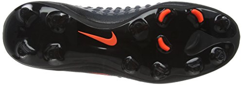 Nike Jr Magista Obra Ii Fg, Chaussures de Football Mixte Adulte Noir (Black/total Crimson)