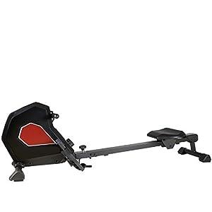 AsVIVA Rudergerät RA16 Magnetic Rower | Magnetbremse mit 8 Widerstandsstufen inkl. Computer, 7kg Schwungmasse, flüsterleiser Riemenantrieb, klappbar, extrem kompakt | Heimtrainer Rower