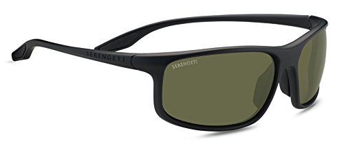 Serengeti Eyewear Erwachsene Levanzo Sonnenbrille, Satin Black, Medium/Large