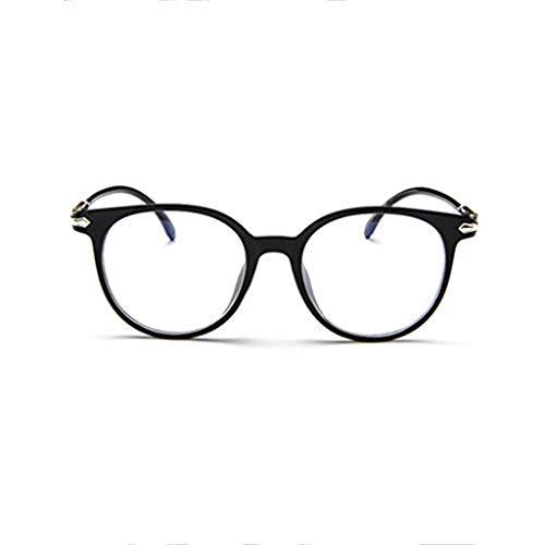 WooCo Retro Brille für Damen und Herren, Räumungsverkauf DEATU Mode Brillengestell Flacher Spiegel Transparente Brillengestell Plain Glass Brillen(Violett,One size)