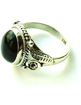 Shanya Ring im Folklore-Design Sterling-Silber 925 Schwarzer Onyx