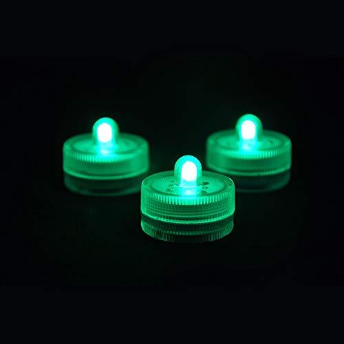Gaocunh LED-Kerzenlichter, flackernd, flammenlose LED-Kerzen, bunt, schwimmendes Licht für Hochzeiten, Geburtstag, Party, Abendessen, Festivals Dekoration grün (Grüne Schwimmende Kerzen)