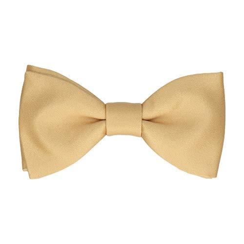 Mrs Bow Tie Classic Fliege, Selbstbinde Fliege - Rein Gold Gold Bow Tie