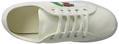 Kawasaki Unisex-Erwachsene Tennis 2.0 Sneaker Weiß (Nuclear White with Stripes)