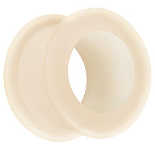 Piersando Silikon Flesh Tunnel Ohr Plug Piercing Ohrpiercing Extra Big Flexibel Weich Soft XXL 6mm Hautfarbe
