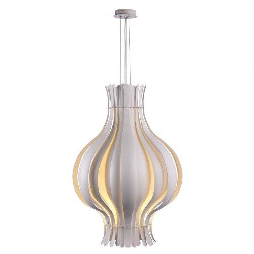 VerPan Onion Large - Suspension grand modèle, blanc aluminium baldaquin chrome