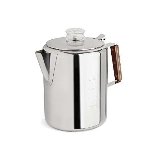 Tops Mfg. Co. Inc. Rapid Brew Stainless Steel Stovetop Coffee Percolator 2-12-Cup 312qEIlwGGL