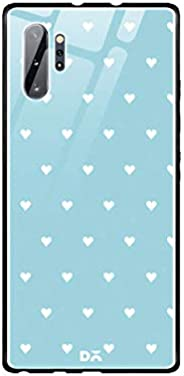 DailyObjects Blue Water Hearts Glass Case Cover for Samsung Galaxy Note 10 Plus