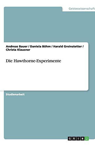 Die Hawthorne-Experimente