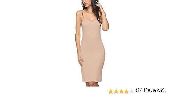 Avidlove Fond De Robe Femme Combinaison Coton Sculptant Invisible Gainant Courte Beige Xx Femme Combinaisons Et Jupons