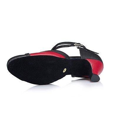 Zapatos De Baile-personalizables-mujeres-latinoamericanas Dance / Tap / Modern / Salsa-heel-tailored-leather-black Black