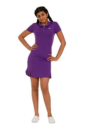 Polo-Tennis-Kleid für Mädchen, Plissee-Design, für Tennis / Golf, Lila, 9 Jahre