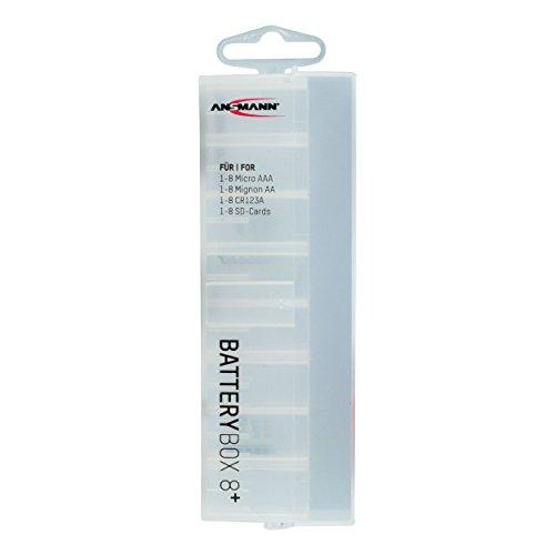 Galleria fotografica ANSMANN Premium Box per Max. 8 Batterie Mignon AA oppure Micro AAA - Custodia per Protezione e Trasporto - Box