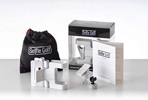 Selfiegolf record golf swing cell phone clip holder e training aid accessori per il golf | vincitore del miglior prodotto pga, quick set up