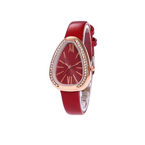 Anqeeso Frauen Retro PU-Band-Armbanduhr, Quarz-Schlange-Kopf-Form-römische Skala-Uhren