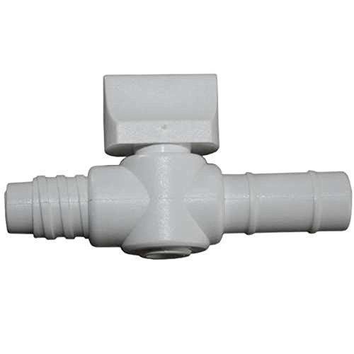 Irrigator Hahn zum Schrauben - weiß - mit Außengewinde - Verbindungsstück zwischen Einlaufgerät und Klistierrohr bzw. Mutterrohr