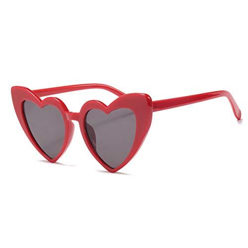 Xiaotaiyang Herz-Sonnenbrille Frauen geformte Gläser Damen Sunglass Uv400,C5
