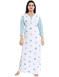 TUCUTE® Girls Women s Beautiful Print Long Sleeves  Nighty Nightwear Nightgown ca60a88ec
