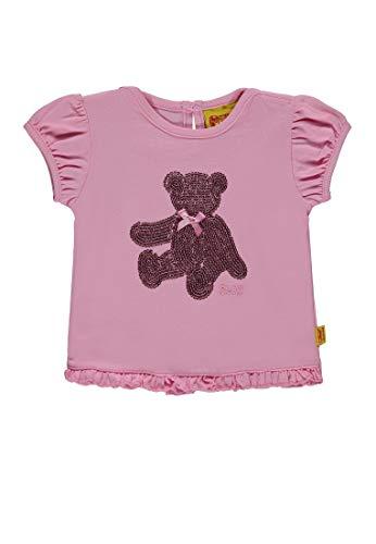 Steiff Baby-Mädchen 1/4 Arm T-Shirt, Prism Pink|Rose 2160, 98 - Prism Pink Bekleidung