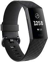 Fitbit Charge 3, Tracker Avanzato per Fitness e Benessere Unisex Adulto, Impermeabile fino a 50 m, Grafite/Nero, Taglia...