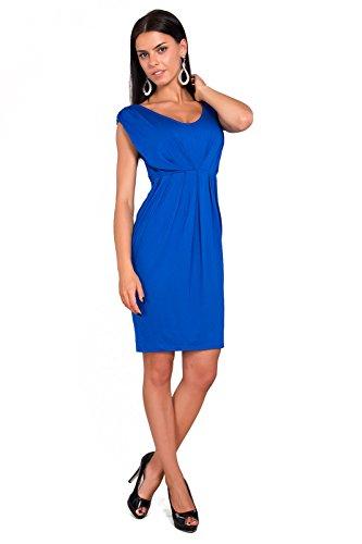 Futuro Fashion Femmes Robe Tulipe Sans manche avec Col V Style Décontracté Taille 8-18 UK 8437 Bleu Roi