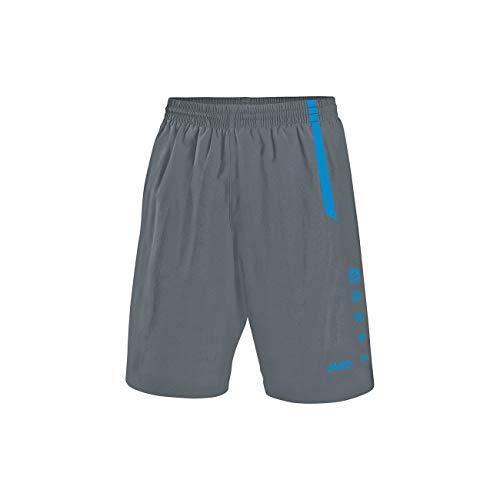 JAKO Herren Sporthose Turin Fußballsporthosen, steingrau blau, S - Größe Herren Sporthose Kurz