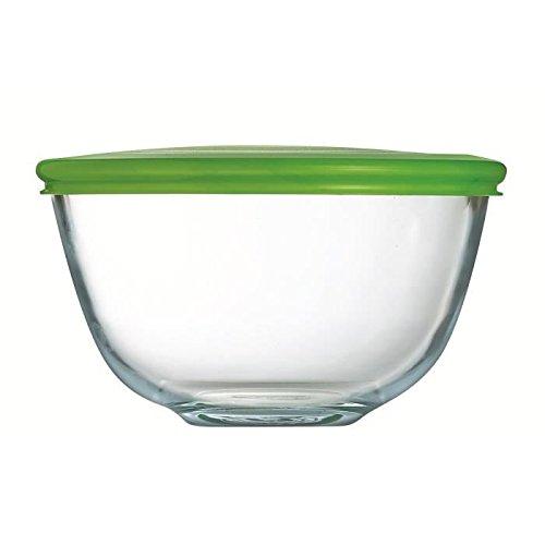 Pyrex–2L Bol avec couvercle à partir de verre borosilicate résistant aux taches