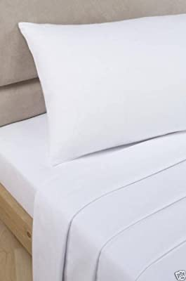 "VICEROY BEDDING 500 Thread Count Luxury 100% Egyptian Cotton White, Double Bed Size, 12"" Deep Fitted Sheet"
