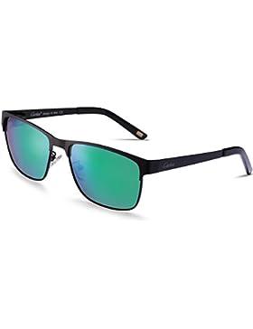 Carfia Polarisierte Herren Sonnenbrille Modische Metallrahmen Fahrer Sonnenbrille 100% UV400 Schutz für Golf,...