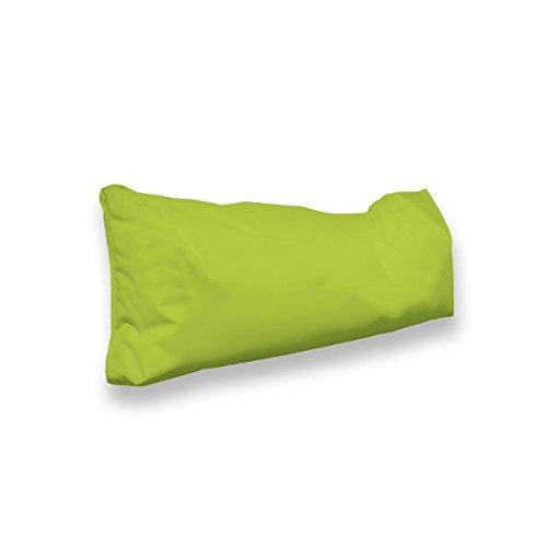 berlinpillow.de 4260406163501 Original Bean Bag In und Outdoor PalettenRückenkissen Pallets Bag, 100 x 30 x 10 cm, grün