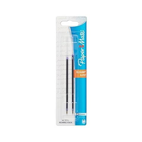 Refills for FlexGrip Elite & Ultra Ballpoint Pens, Medium, Blue, 2/Pack, Sold as 1 Package