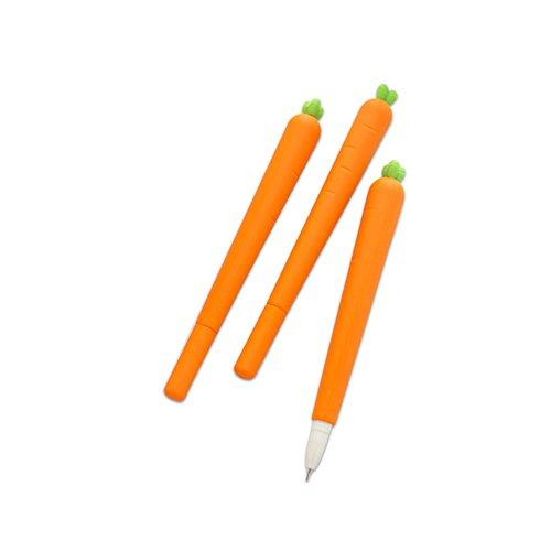 Newin Star 1 Creative Pack zanahoria en forma de bolígrafo bolígrafo lindo portable de útiles escolares