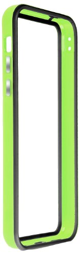 Horny Protectors iP5c-4012c TPU Silikon Schutzhülle für Apple iPhone 5c (nicht 5S) transparent/gelb Grün Schwarz chrome