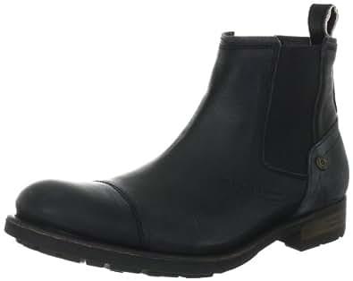 Hilfiger Denim DARRYL 3B EM56814616, Herren Chelsea Boots, Schwarz (WASHED BLACK 007), EU 41