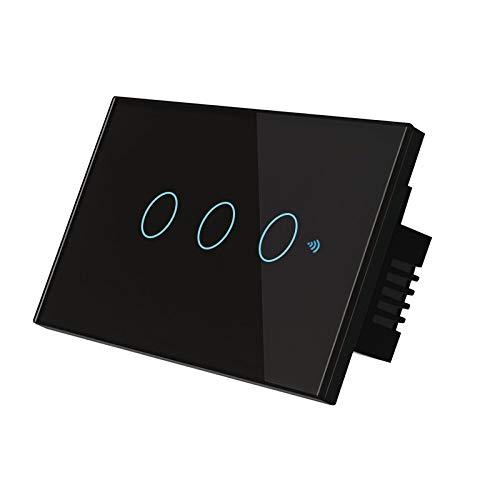 XINGXINGFAN Smart-In-Wall-Lichtschalter WiFi-App Remote Touch-Fernbedienung für Amazon Echo/Dot/Tap und Google Assistant Schalten Sie das Licht von überall aus für Familie, Büro, Hotel und mehr
