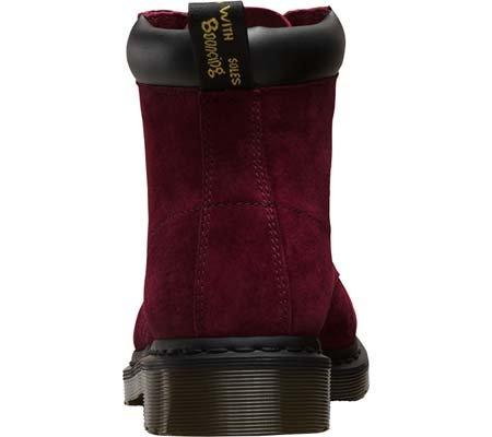 Dr.Martens Womens 939 6 Eyelet Soft Buck Nubuck Boots Wine Soft Buck