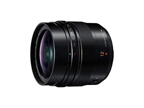 Panasonic LEICA Objectif à focale fixe pour capteur micro 4/3 12mm F1.4 H-X012E (Grand angle 12mm, Très Grande ouverture F1.4, equiv. 35mm : 24mm) Noir - Version Française