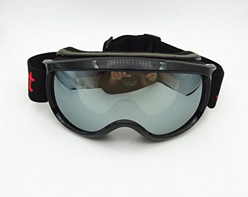 L.Z.HHZL Schutzbrille Skibrille für Herren Damen Antibeschlag- und Sandschutzbrille mit großen sphärischen Gläsern zum Klettern bei Schneebrillenfahrten Sonnenbrille (Color : Clear)