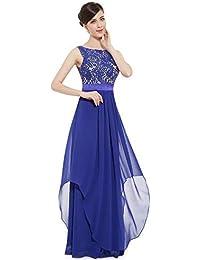 3905dd0eaf5b GWEI  Donna Eleganti Sexy Senza Spalline Vestito a Tunica Maxi Abiti da Cerimonia  Sera Partito