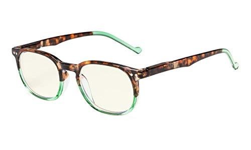 Eyekepper Jahrgang UV Schutz Computer Lesebrille Brille  (Schildkröte-Grün, 0.00)
